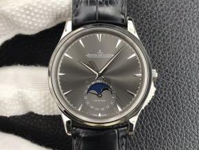 GF厂积家复刻手表月相大师系列正装男款黑盘黑带自动机械手表