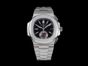 3K百达翡丽复刻手表鹦鹉螺系列男装蓝盘钢带多功能计时手表