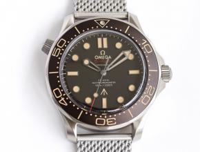 OR复刻手表欧米茄男士黑盘钢带手表