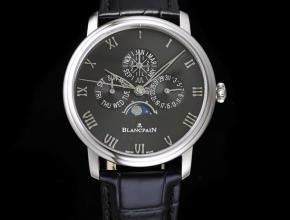 宝珀复刻手表经典系列6656自动机械男款绿盘皮带手表