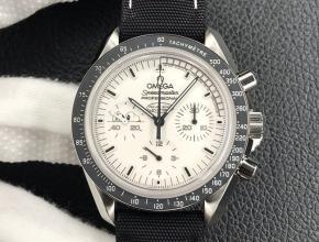 OM厂欧米茄史努比 V2升级版男款白盘尼龙带自动机械手表