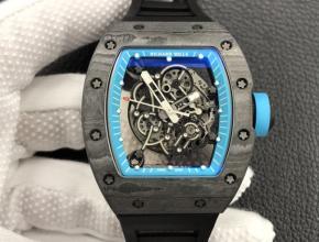 ZF理查德米勒复刻手表男装黑盘黑橡胶带全球限量自动机械手表