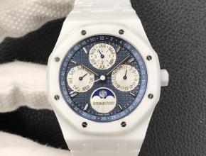 复刻手表爱彼皇家橡树系列男款蓝盘自动机械橡胶带腕表
