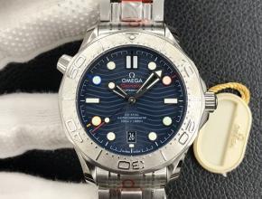 OR复刻手表欧米茄蓝盘钢带海马系列男款腕表