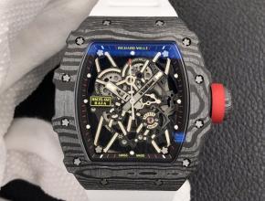 ZF复刻手表理查德米勒RM035-2黑盘白橡胶带自动机械手表
