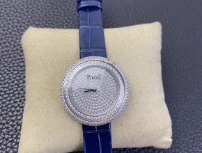 伯爵复刻手表白盘蓝带POSSESSION时来运转系列女士石英手表