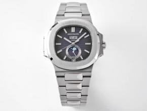 PPF复刻百达翡丽男款黑盘钢带Ref.5726/1A Nautilus系列年历自动机械手表