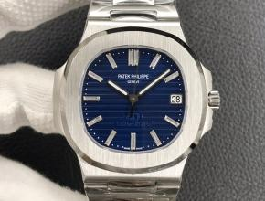 3k厂复刻手表百达翡丽男款蓝盘鹦鹉螺系列钢带自动机械腕表