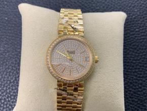 复刻手表伯爵女款金盘金钢带石英手表