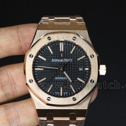 皇家橡树15400包18K玫瑰金男士机械手表