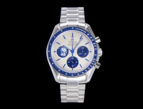 欧米茄复刻手表男士自动机械白盘钢带史努比系列手表
