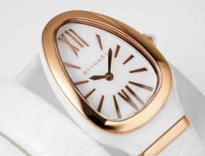 复刻手表宝格丽石英 女款白盘陶瓷表带手表
