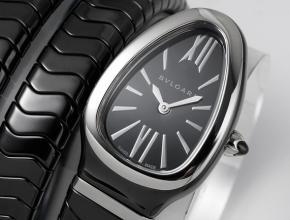 复刻手表宝格丽女装黑盘黑陶瓷表带石英手表