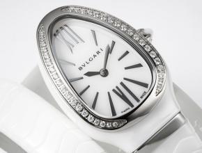 复刻手表宝格丽女士白盘陶瓷石英手表