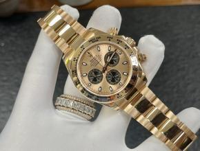 复刻手表劳力士男装金盘金带自动机械手表