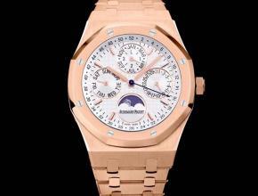 复刻手表爱彼男装白盘金带皇家橡树系列自动机械手表