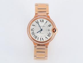 V6厂复刻手表卡地亚自动机械蓝气球系列男士白盘钢带手表