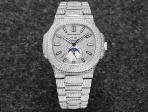 R8厂复刻手表百达翡丽男款白盘钢带运动优雅满天星系列自动机械手表