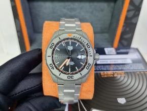 原单手表泰格豪雅男装黑盘钢带自动机械手表