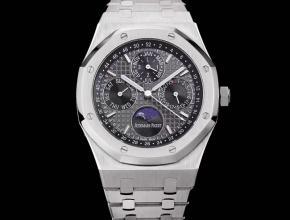 爱彼复刻手表皇家橡树系列自动机械男士灰盘钢带手表