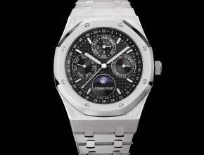 爱彼复刻手表自动机械男款黑盘钢带皇家橡树系列手表