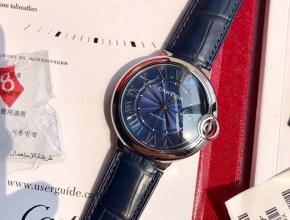 原单手表卡地亚男款蓝盘蓝带蓝气球系列42mm自动机械皮带手表