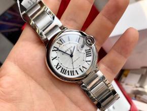 原单手表卡地亚机械男款42mm钢带蓝气球系列手表
