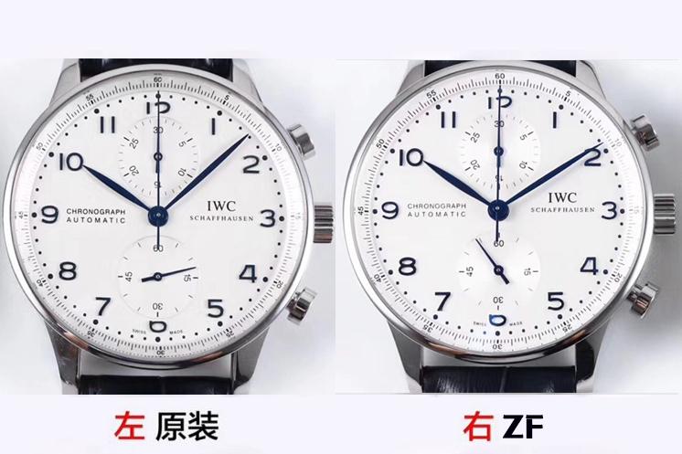ZF厂万国葡计IW371446蓝针复刻表真假对比评测