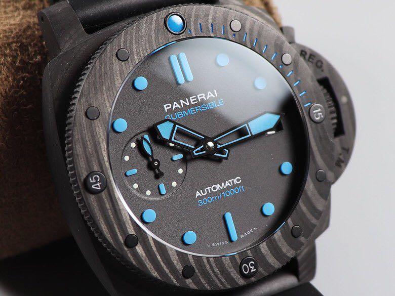 vs沛纳海Pam960顶级复刻表42mm表盘碳纤维