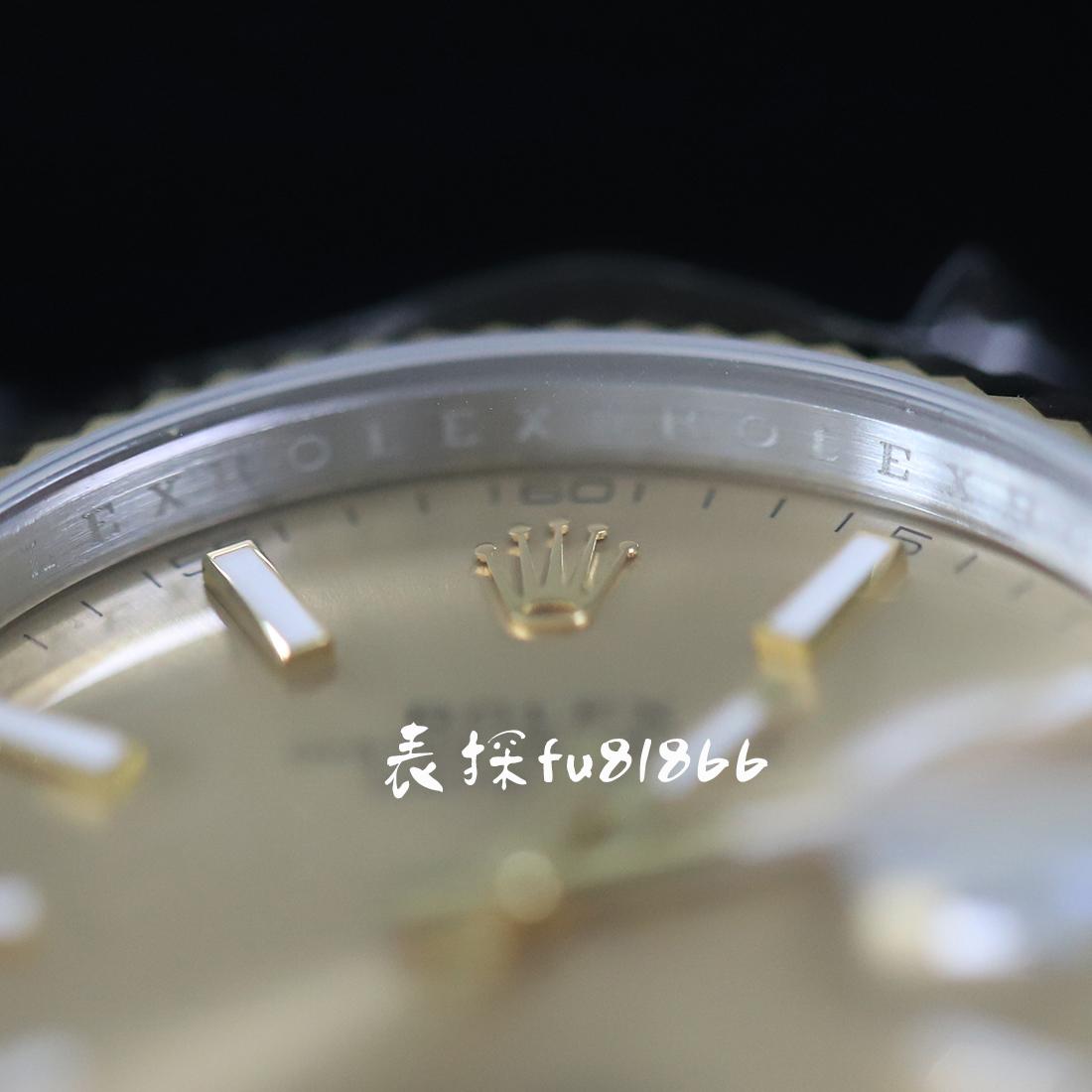 ar劳力士日志型41mm黄金玫瑰金对比评测