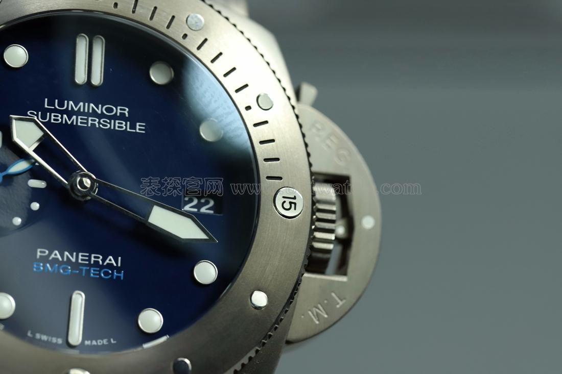 vs厂沛纳海pam00692钛金属大表盘评测 深蓝的魅力