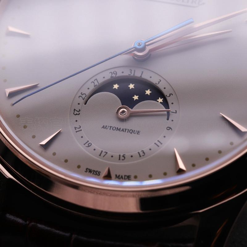zf积家大师系列月相超薄男士手表玫瑰金 复刻表评测