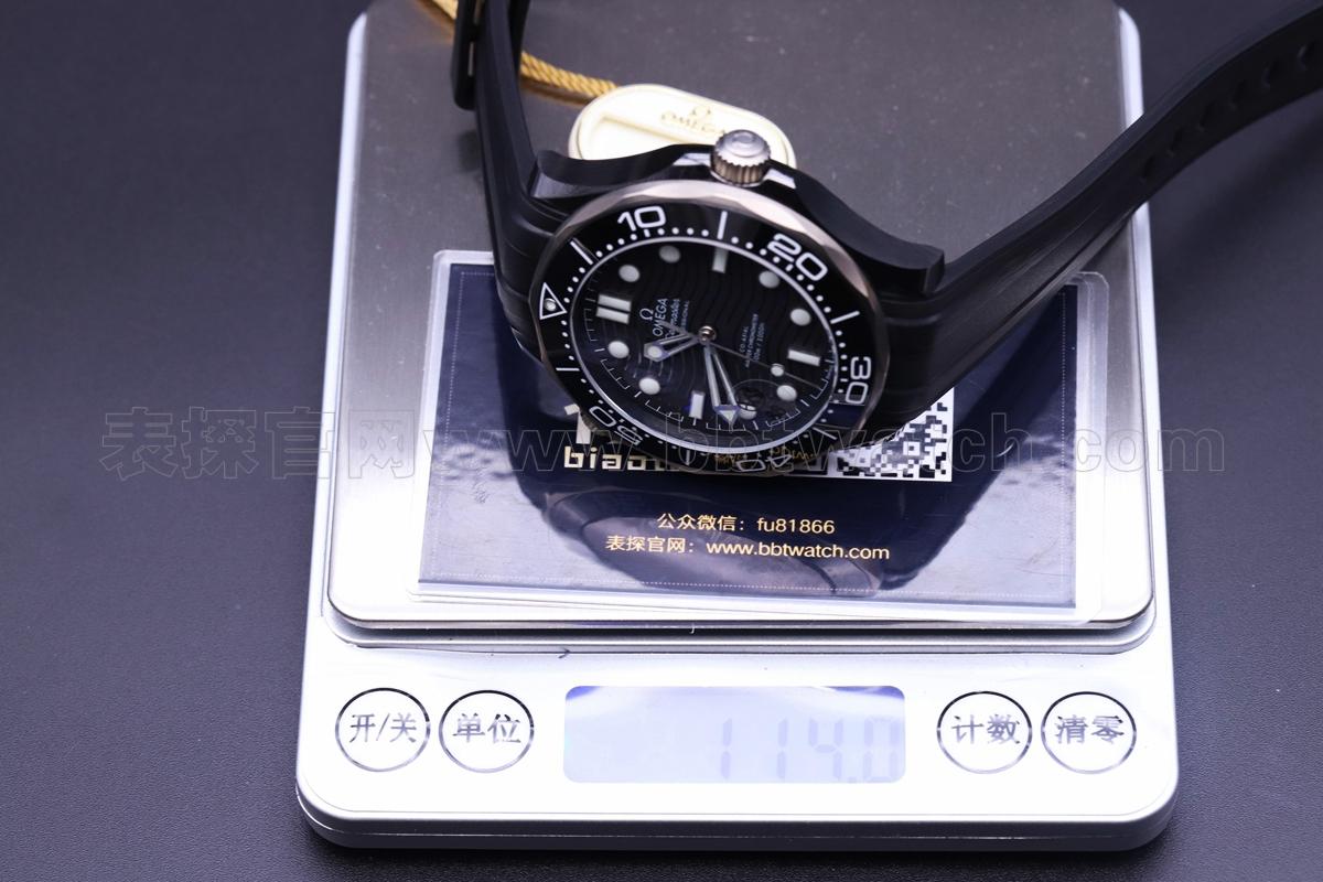 复刻表海马300哪个厂好——vs欧米茄陶瓷钛金属手表图文评测