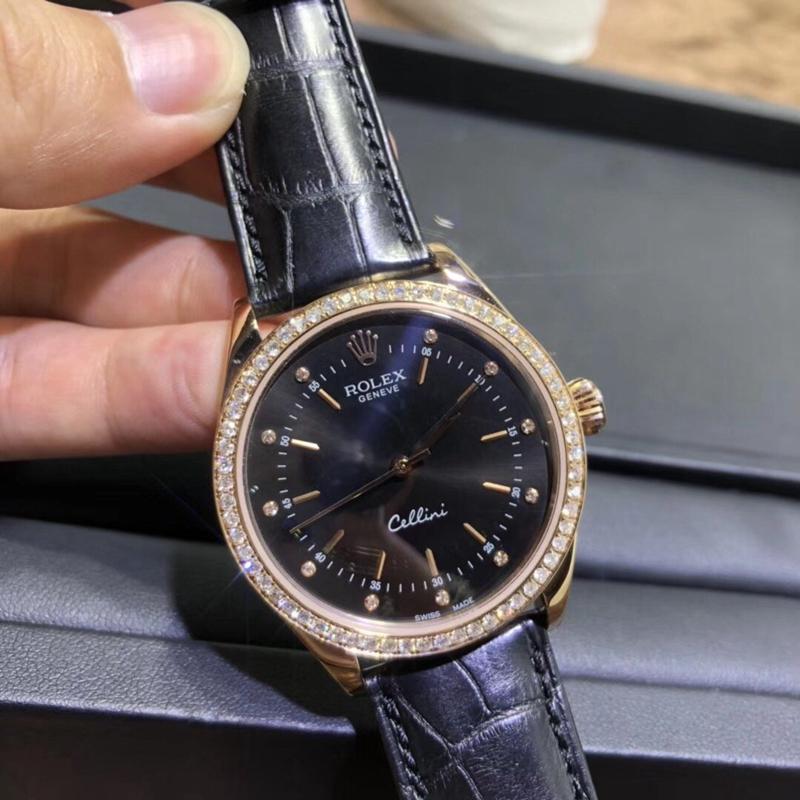 劳力士切利尼系列南非真钻18k金手表