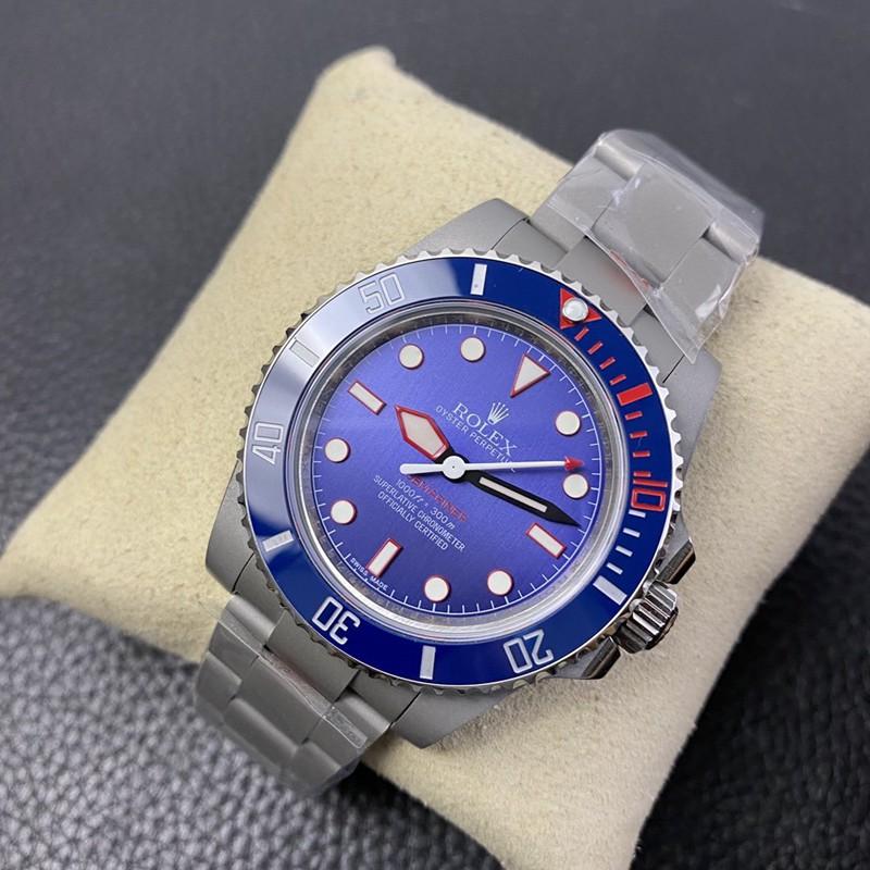 复刻劳力士改装手表喷砂壳蓝盘