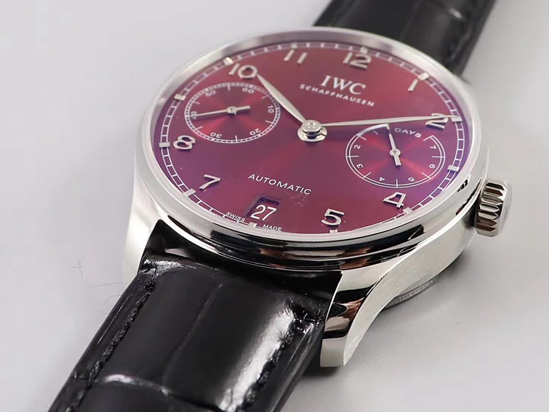 复刻手表万国葡7日链新款盘动显小秒YL厂