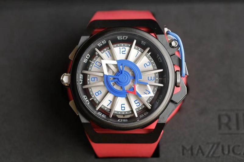 魔舵MAZZUCATO双面反转时速仪表盘男士潮流手表