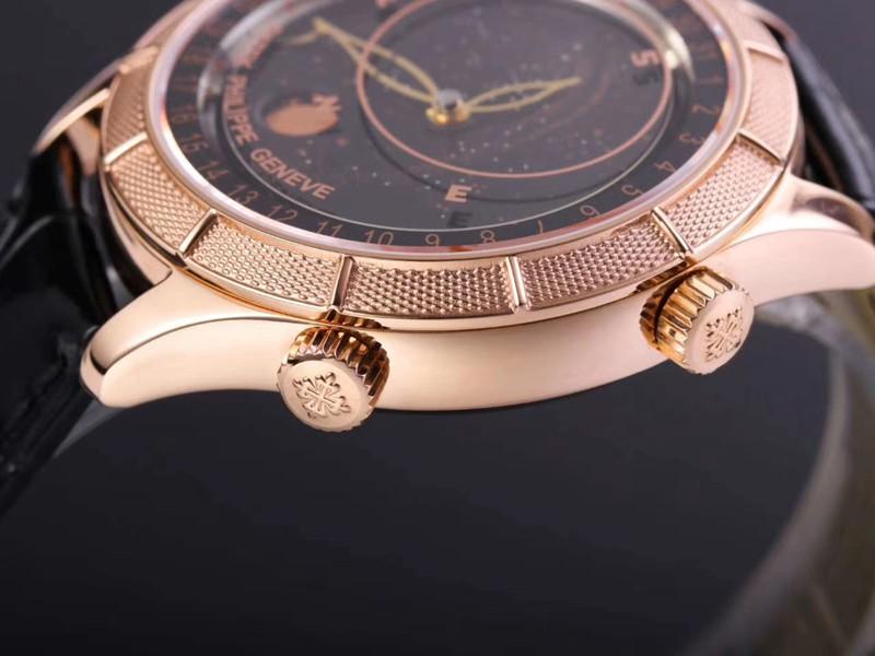 百达翡丽一比一手表复杂功能星空系列5106R/5102/6104玫瑰金黑盘
