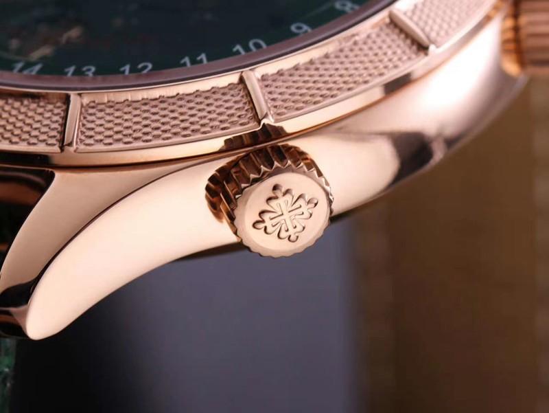 复刻百达翡丽手表复杂功能星空系列5106R/5102/6104玫瑰金绿盘