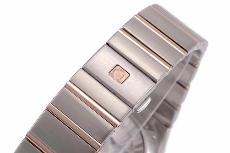 欧米茄气质款vs星座精仿气质款8500机械手表白盘玫瑰金