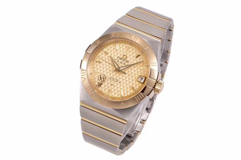 欧米茄高仿气质款vs星座玫瑰金盘气质款8500机械手表