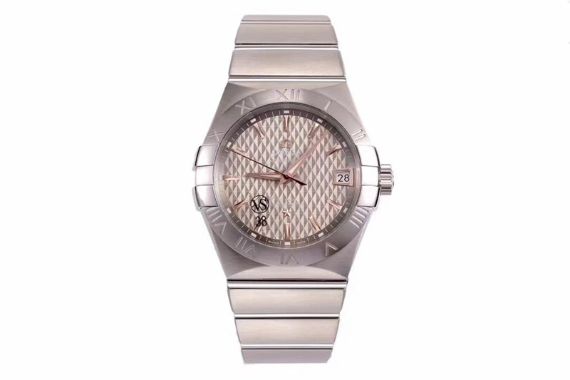 欧米茄复刻手表气质款vs星座气质款8500灰盘机械手表