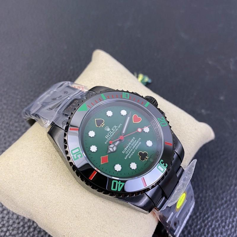 高仿劳力士手表潜航者最新改装款全黑绿盘