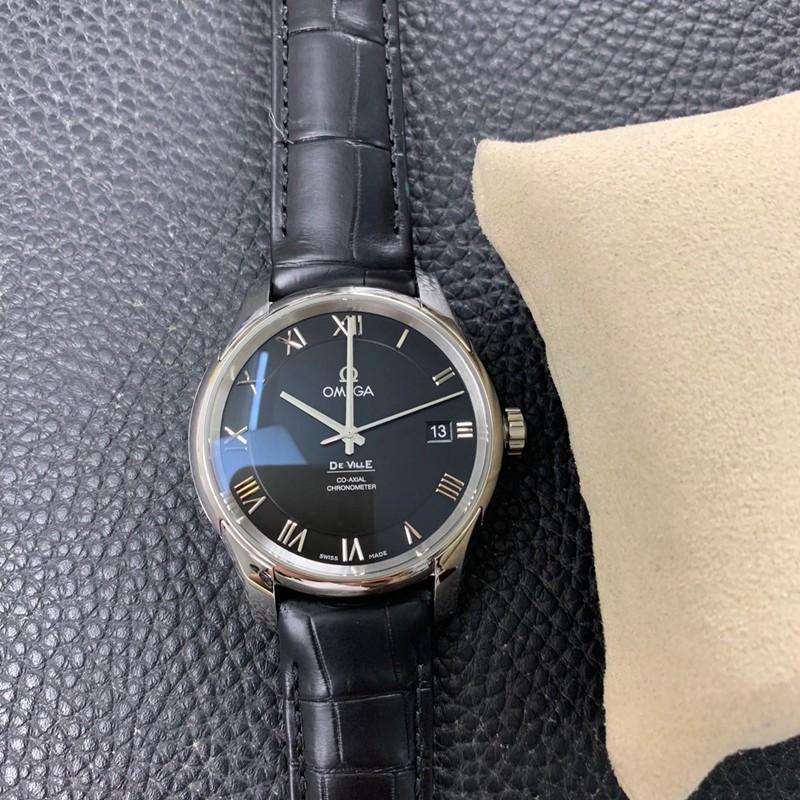 欧米茄复刻手表vs厂碟飞系列8500机芯鳄鱼皮高品质