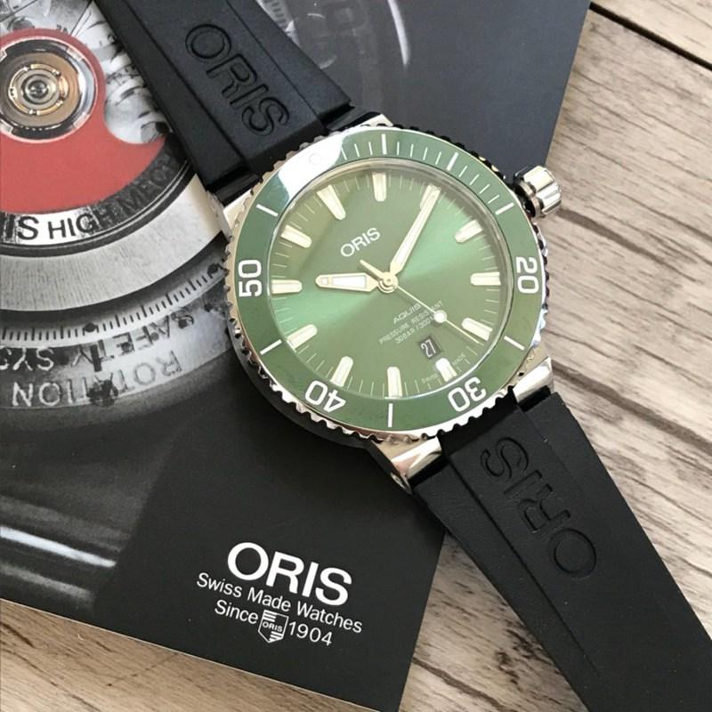 豪利时潜水系列高仿胶带款绿色表盘 原单顶级品质手表 瑞士sw200机芯