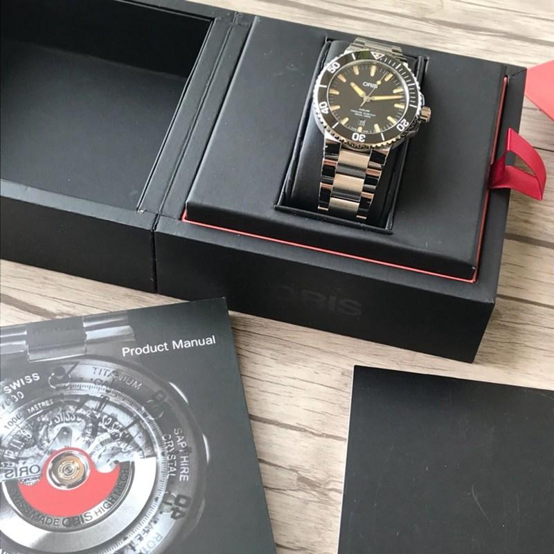 豪利时高仿潜水手表表钢带款黑盘 原单顶级品质 瑞士sw200机芯