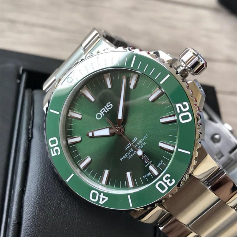 高仿手表豪利时潜水系列钢带款绿色表盘 原单顶级品质 瑞士sw200机芯