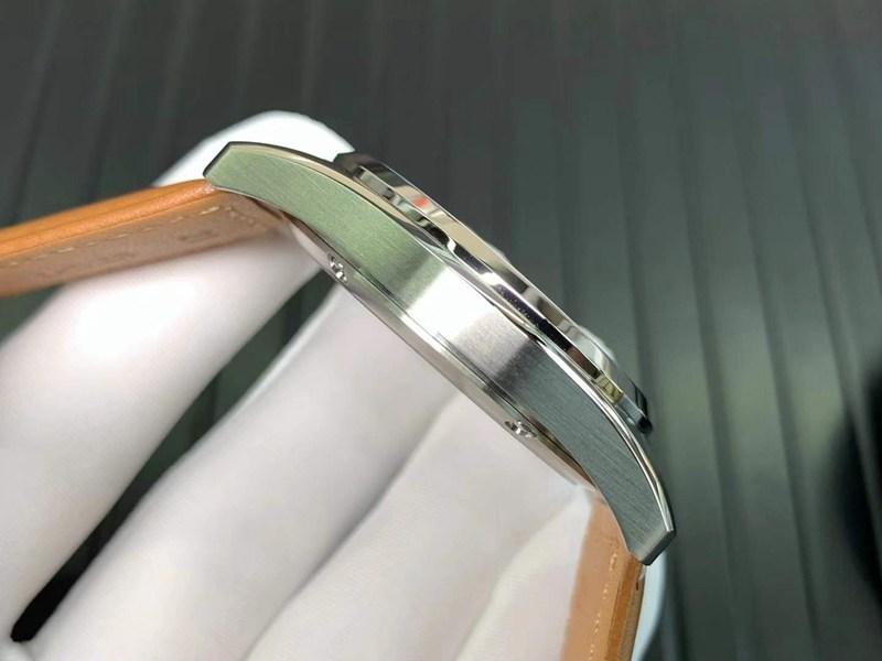 浪琴复刻手表先行者系列五星上将白盘机械腕表
