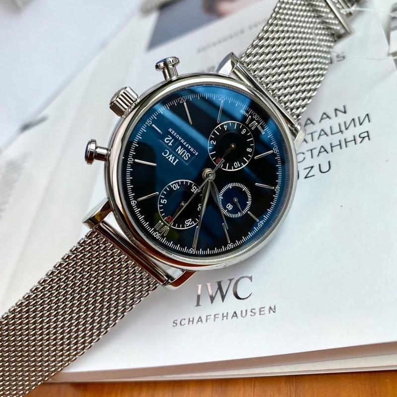 万国原单柏涛菲诺钢米兰带瑞士eta7750机芯黑白蓝三个颜色