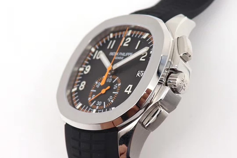 OM厂顶级精仿百达翡丽手雷计时腕表全新5968A-001一体机芯手表 黑色橡胶表带